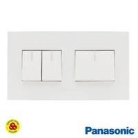 Panasonic Saklar 3G WESJ5931 + WESJ78049 Style Series 3 Gang Putih
