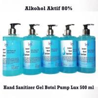 Hand Sanitizer Gel 80% 500ml Botol Pump Lux (Gelnya Lebih Kental)
