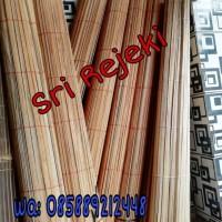 Tirai bambu Halus 2 x 2 M Kerai/kerey /Sudah katrol