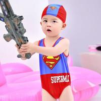 Setelan Renang Anak Karakter Superman / Baju Renang Anak Lucu