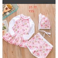 Baju Renang Anak Perempuan / Setelan Renang Pink