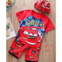 Setelan Baju Renang Anak Karakter Cars / Baju Renang Anak Lucu