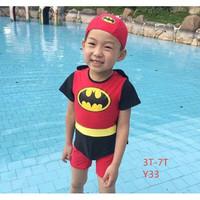 Baju Renang Anak Motif Karakter Batman / Setelan Renang Anak Superhero