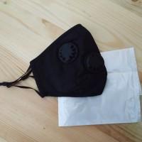 Masker PM 2.5 Triple Valve (3 Katup) Incld 2 Pcs Filter PM 2.5 - Black