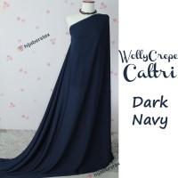 HijabersTex 1/2 Meter Kain WOLLYCREPE CALTRI Dark Navy