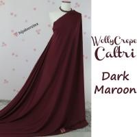 HijabersTex 1/2 Meter Kain WOLLYCREPE CALTRI Dark Maroon