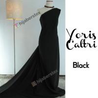 HijabersTex 1/2 Meter Kain YORIS CALTRI Black