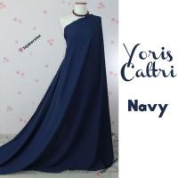 HijabersTex 1/2 Meter Kain YORIS CALTRI Navy