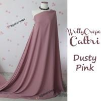 HijabersTex 1/2 Meter Kain WOLLYCREPE CALTRI Dusty Pink