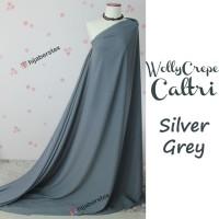 HijabersTex 1/2 Meter Kain WOLLYCREPE CALTRI Silver Grey