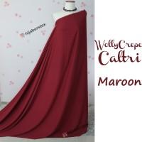HijabersTex 1/2 Meter Kain WOLLYCREPE CALTRI Maroon