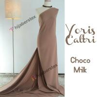 HijabersTex 1/2 Meter Kain YORIS CALTRI Choco Milk