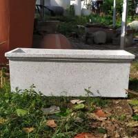 Pot Kotak Granit Putih