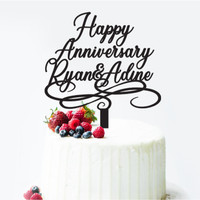 CAKE TOPPER ANNIVERSARY ACRYLIC / CUSTOM CAKE TOPPER AKRILIK