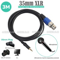 Kabel Audio XLR 3 Pin Female to 3,5mm TRS Stereo 3 meter Camera Video