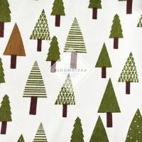 Kain Kanvas pohon cemara muda bahan canvas meteran motif pohon pinus