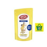 SABUN LIFEBUOY CAIR BODY WASH LEMON FRESH 900 ml refill kuning