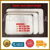 Papan tulis White board gantung 35 x 50 cm besar MURAH