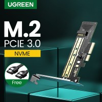 Promo UGREEN PCIE to M2 Adapter NVMe M2 PCI Express Adapter 32Gbps