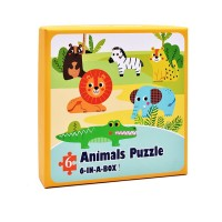 Mainan Jigsaw Puzzle Kayu Gambar Kartun Untuk Awal Edukasi Bayi/Anak