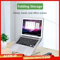 Laptop cooling bracket Aluminum alloy folding portable adjustable