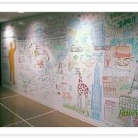 Papan tulis tempel putih whiteboard bigsize White board stiker wall