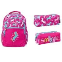 Tas Ransel Backpack Tempat Pensil Pencilcase Smiggle Deja Vu Set Per