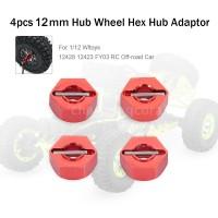 Adaptor Hub Hex Metal 12mm untuk 1 / 12 Wltoys 12428 12423 FY03 Hobi