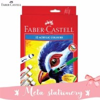 Cat air akrilik / Cat Acrylic 12 warna Faber Castell