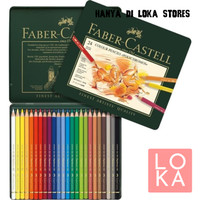 PENSIL WARNA FABER CASTELL POLYCHROMOS SET 24 (FREE COLORING BOOK)