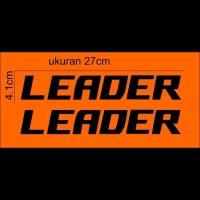 cutting sticker spedah sticker sepedah leader