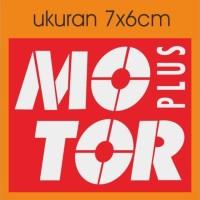 cutting sticker motor logo motor plus