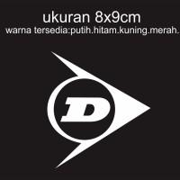 Cutting Sticker motor logo Dunlop