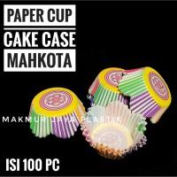 [ CAKE CASE MAHKOTA - 100 PC ] PAPER CUP CAKE CASE MOTIF ISI 100 PC