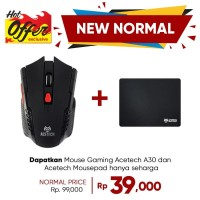 Acetech Mouse Wireless - Mouse Wireless Gaming Acetech A30 - Black