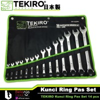 TEKIRO Kunci Ring Pas Set 14 pcs Ukuran 8 - 32 MM 14pcs 8-32mm