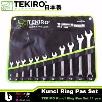 "Kunci Ring Pas Tekiro Set 11 pcs Ukuran 5/16 - 1 Inch 11pcs 5/16-1"""