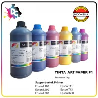 TINTA ART PAPER F1 INK ORIGINAL UKURAN 1 KG - WARNA CMYK LC LM