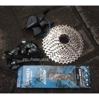 Groupset 9 Speed Sepeda Lipat RD Short Pendek Shimano Troy Noris