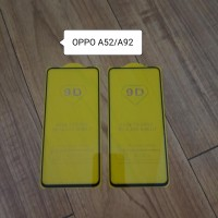Oppo A52 A92 Tempered Glass Full cover