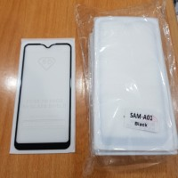 Samsung Galaxy A01 Tempered Glass Full Glue Full Lem 5D