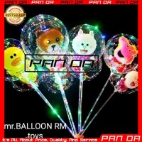 Balon LED Karakter Kartun Lampu Rainbow Warna Warni Tumblr Pesta Anak