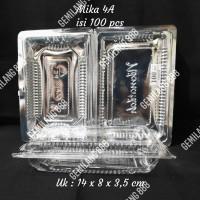 Mika Plastik 4A (isi 100 pcs), Mika Kue Plastik, Tempat Kue Plastik