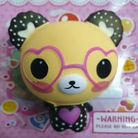 Squishy Murah Rilakuma Bear Wear Love Glasses