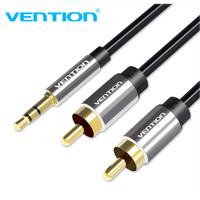 Vention [BCF 1M] Kabel Audio 3.5mm male To 2 RCA Male High Quality