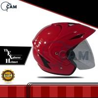 Helm Motor SNi jp-5 pols red f gloss sudah SNI