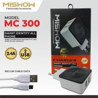 Mishow MC 300 Travel Charger 12 Watt Garansi 365 hari free Kabel