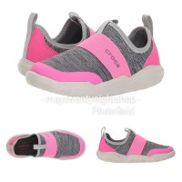 Sepatu Anak Perempuan Slip On Crocs Kids Swiftwater Easy On Heathered