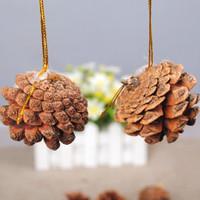 XP gantungan biji pohon pinus silvergold dekorasi ornamen pohon natal