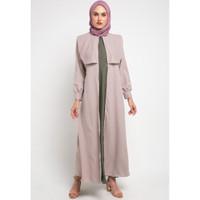 Gamis Muslim Wanita Le Najwa Laila Dress - MOCCA